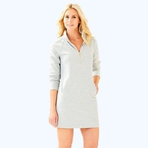 Lilly Pulitzer Grey Skipper Solid Popover Dress